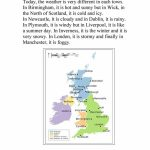 Uk Weather Report Worksheet   Free Esl Printable Worksheets Made Intended For Weather Map Worksheets Printable