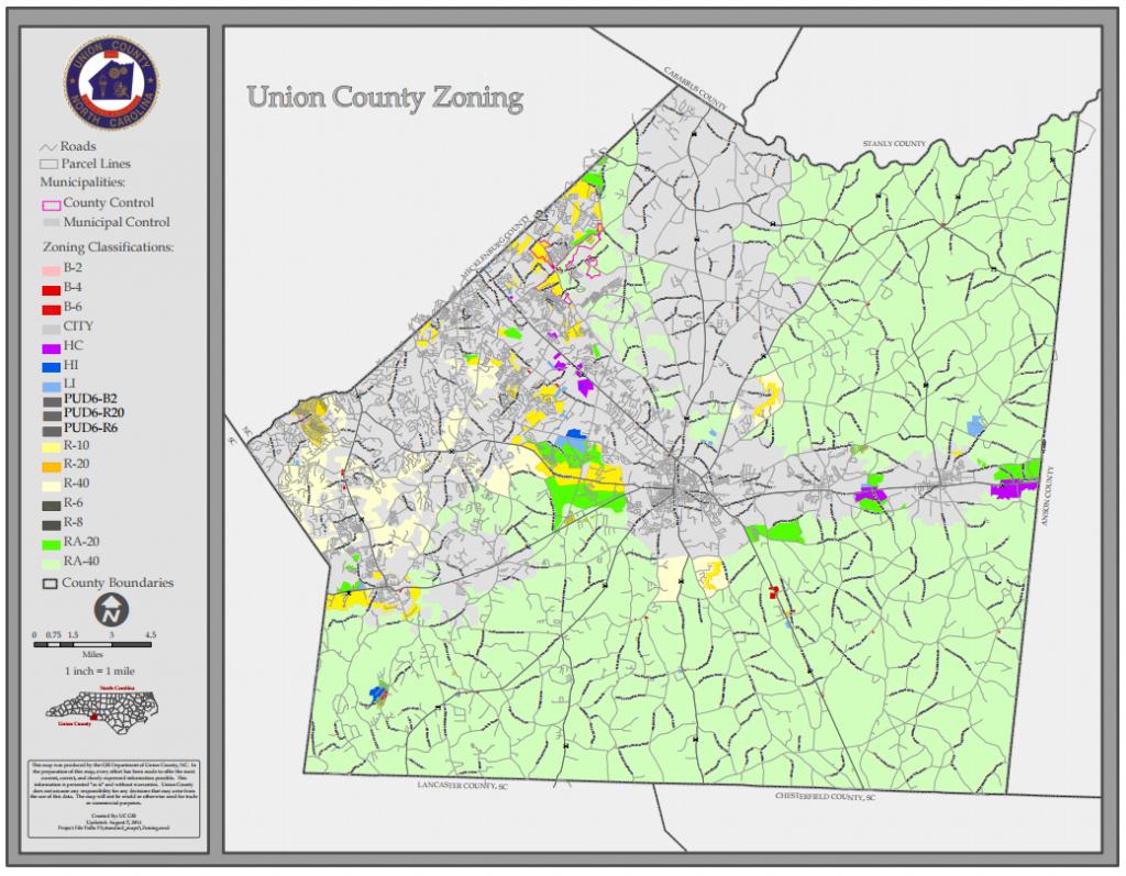 Union County :: Standard Maps inside Printable Nc County Map