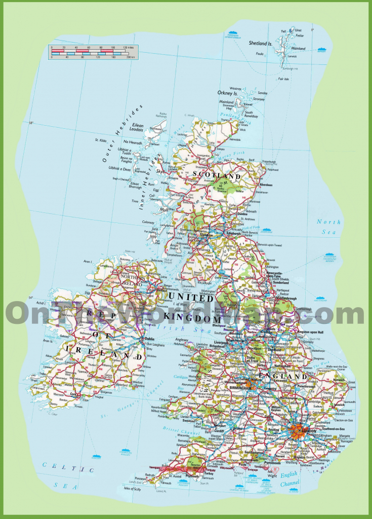 United Kingdom Road Map for Printable Road Maps Uk