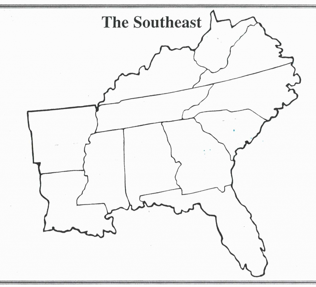 United States Map Blank With Capitals Best Blank Map The Southeast intended for Southeast States Map Printable