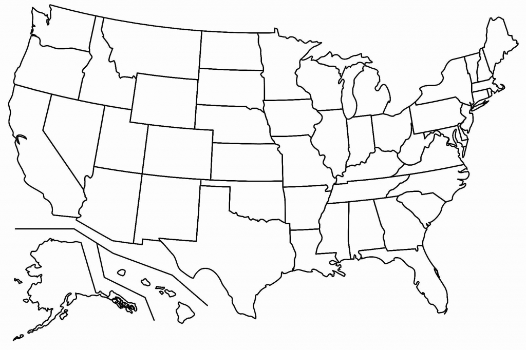 United States Map Outline Blank New United States Map Printable with regard to United States Map Outline Printable