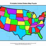 United States Map Puzzles   Earthwotkstrust Pertaining To United States Map Puzzle Printable