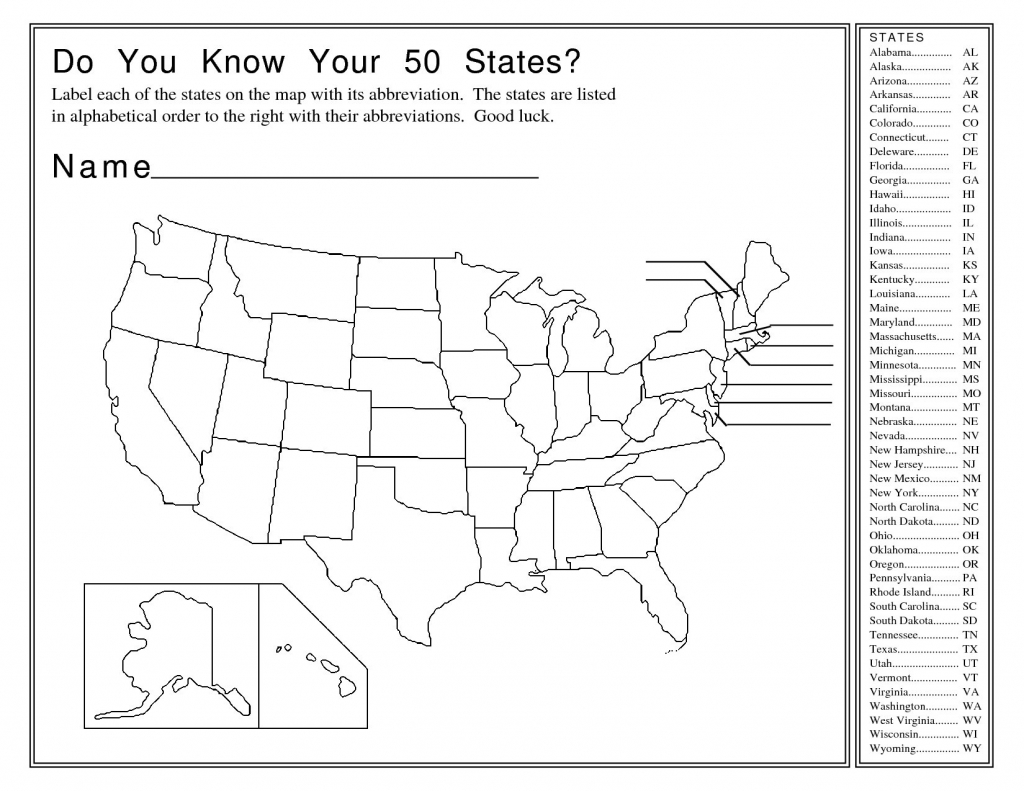 United States Map Quiz Printable New United States Map Worksheets throughout Printable Map Worksheets