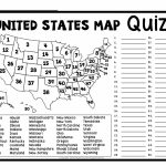 United States Map Quiz & Worksheet: Usa Map Test With Practice Within Us Map Quiz Printable