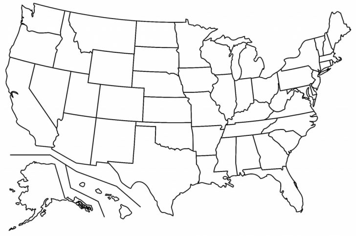 Us Map Unlabeled Printable