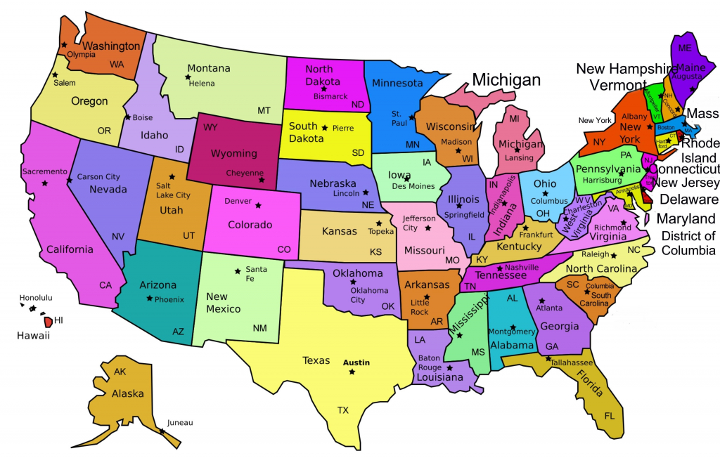 United States Map With State Capitals Printable Valid Inspirationa with regard to Printable Us Map With States And Capitals