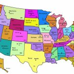 United States Map With State Names And Capitals Printable in United States Map With State Names And Capitals Printable