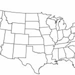 United States Map With State Names Outline Valid Free Printable Us Throughout Map Of United States Without State Names Printable