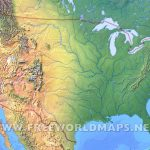 United States Physical Map Intended For Physical Map Of The United States Printable