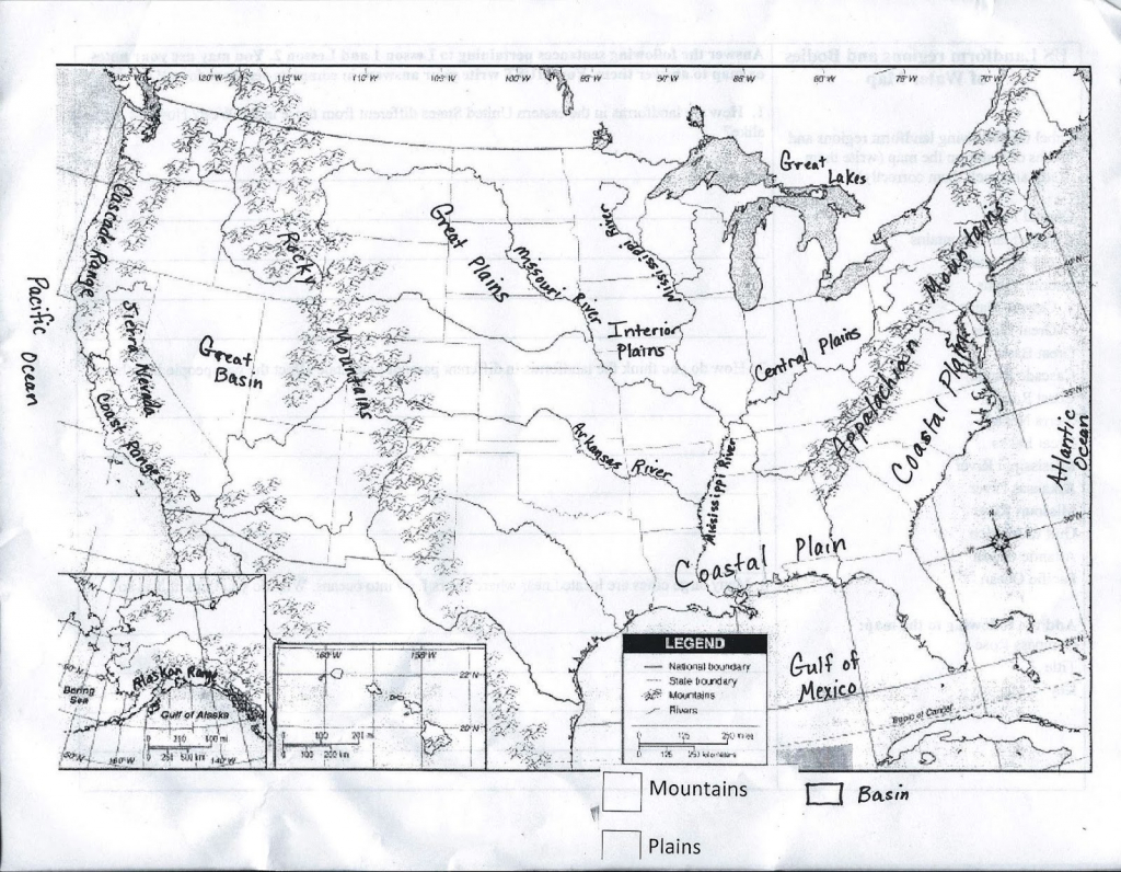 United States Political Map Black And White Inspirationa Blank with regard to Physical Map Of The United States Printable