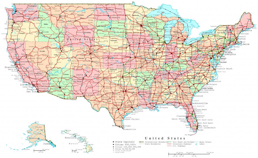 United States Printable Map regarding Printable Map Of Usa With Major Cities