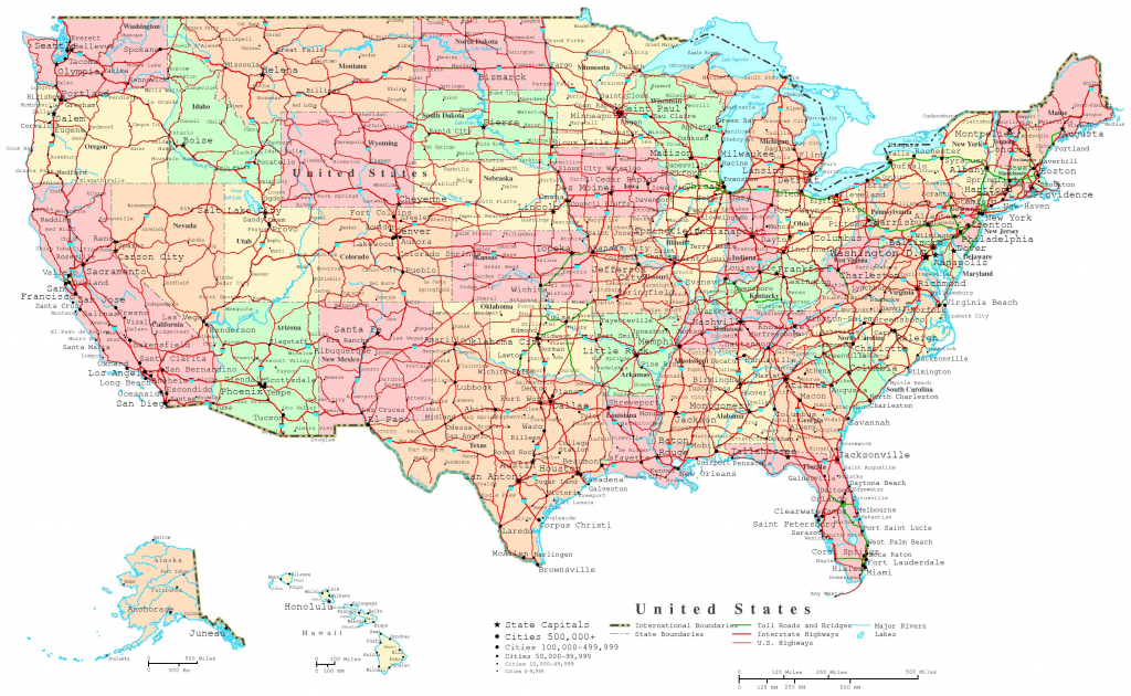 United States Printable Map within Printable Map Of Usa With Cities And States