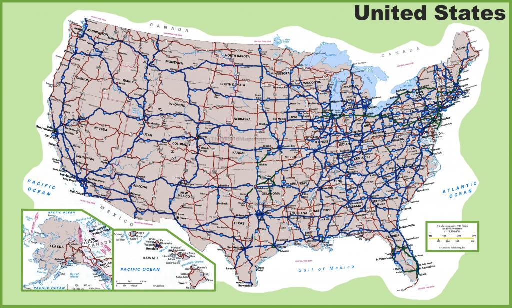United States Road Map Fabric Fresh 10 New Printable Map North regarding United States Road Map Printable