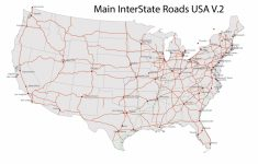 United States Road Map Printable