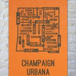 University Of Illinois Champaign Urbana Fighting Illini Poster Print With Regard To Printable Map Of Champaign Il