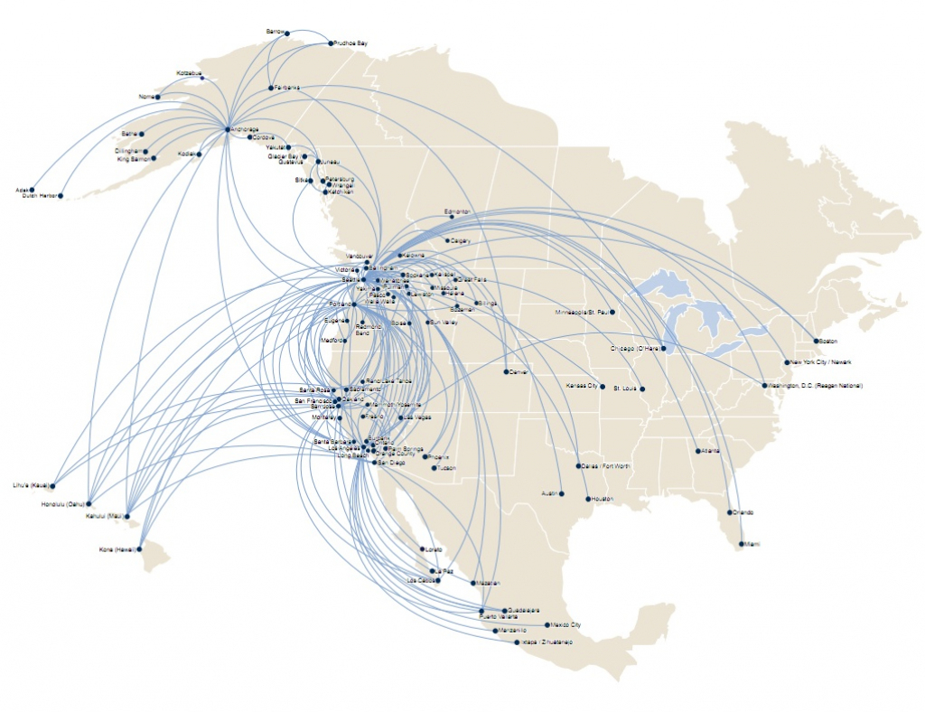 Us Airways Destinations Map Alaska Airlines Jumps To Fort Lauderdale for Alaska Airlines Printable Route Map