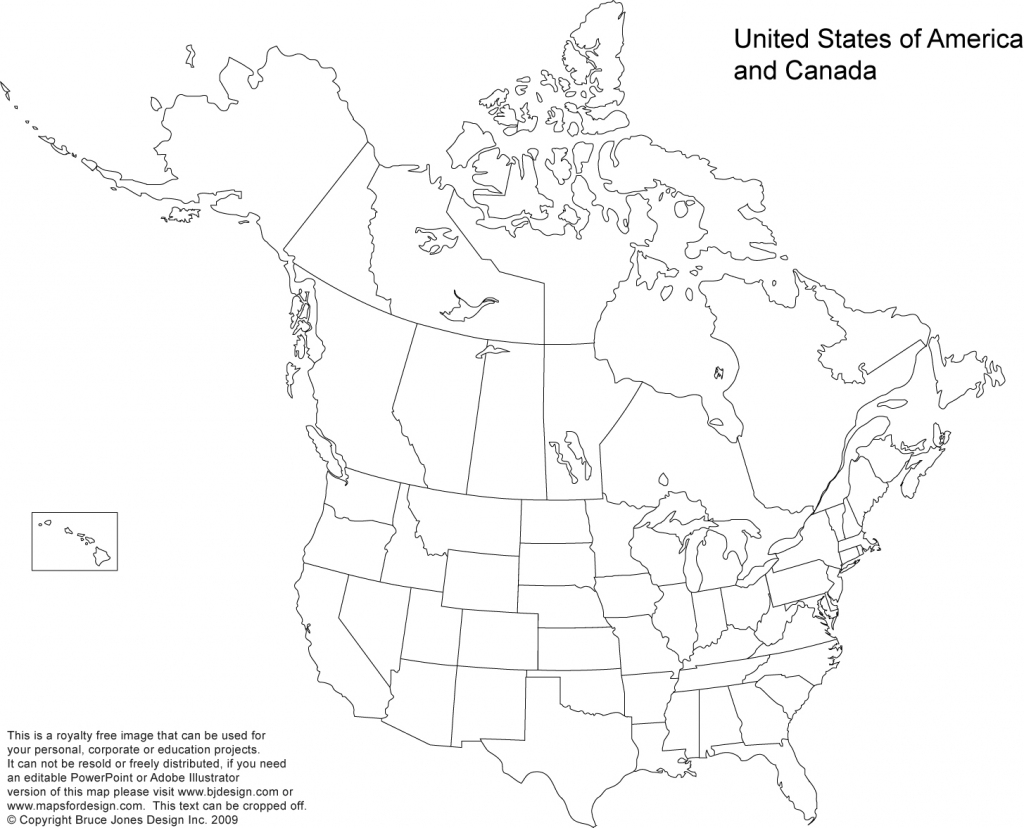 Us And Canada Printable, Blank Maps, Royalty Free • Clip Art inside Blank Us And Canada Map Printable
