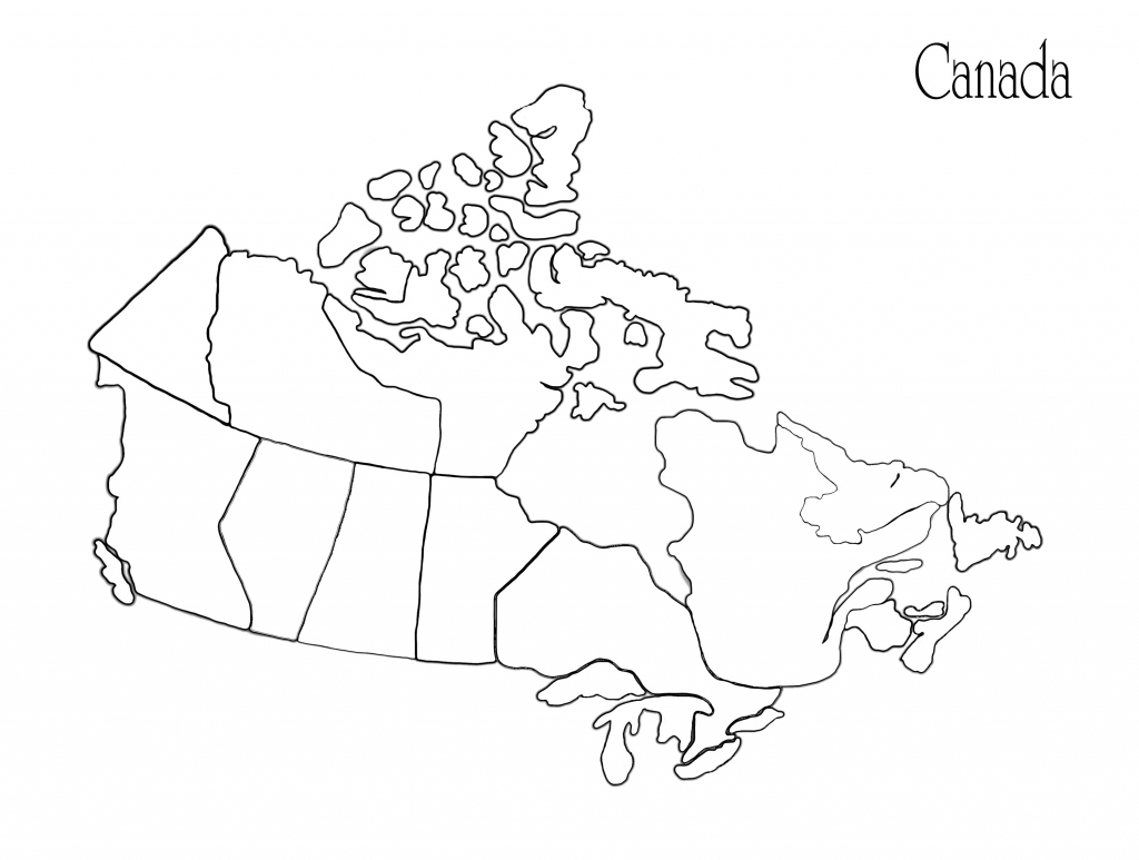 Us Canada Map Printable Fresh Us Canada Map Outline Refrence inside Free Printable Map Of Canada Worksheet
