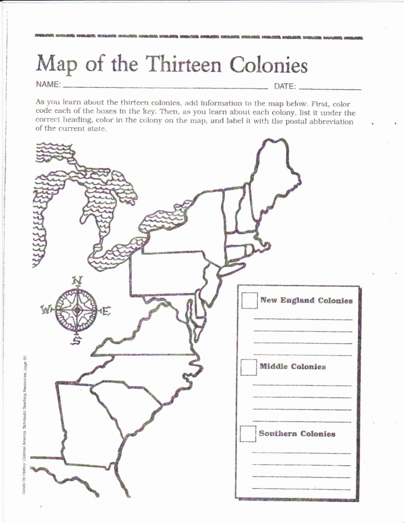 Us Colonies Map Printable Refrence 13 Colonies Map Coloring Page 13 in Map Of The 13 Original Colonies Printable