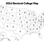Us Electoral Map Blank Map Outline Blank Electoral Map 2016 15 Throughout Blank Electoral College Map 2016 Printable