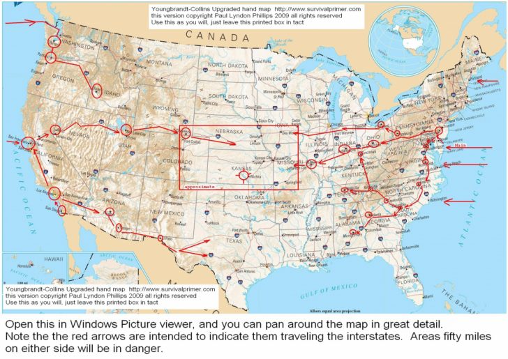 Printable Us Map With Interstate Highways