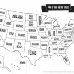 Us Map Black And White Printable Of The Usa Mr Printables In Usa Map Black And White Printable