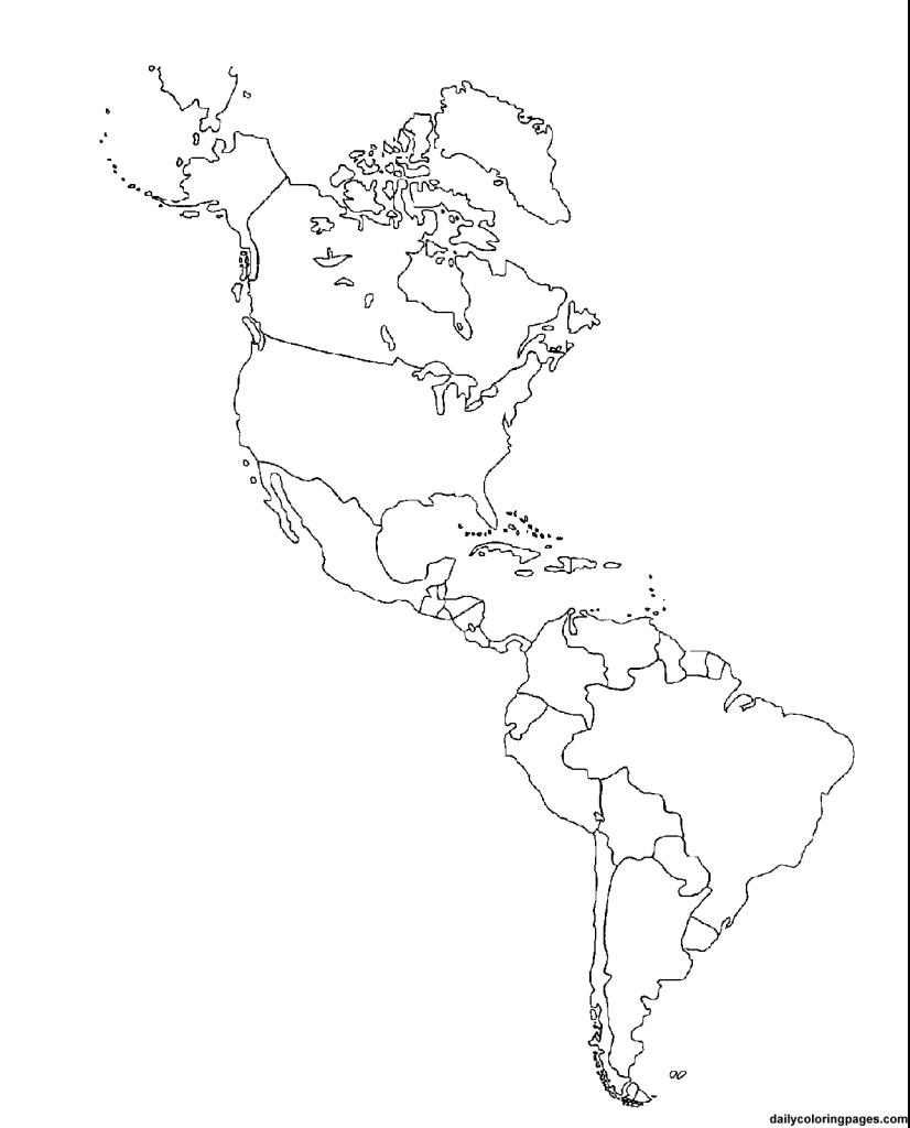 Us Map Coloring | Social Studies Ideas~Ed | South America Map with Printable Map Of North And South America