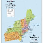 Us Map North East Unique North East United States Map New Printable Throughout Printable Map Of The Northeast