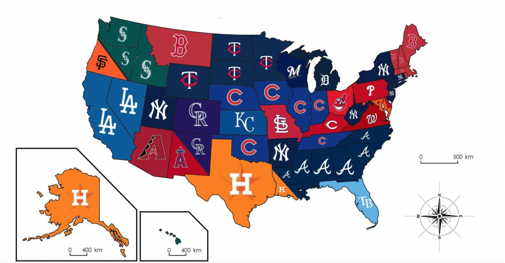 Us Map Of Baseball Stadiums Ballparks Mlb Stadium Print New Teams In with regard to Printable Map Of Mlb Stadiums
