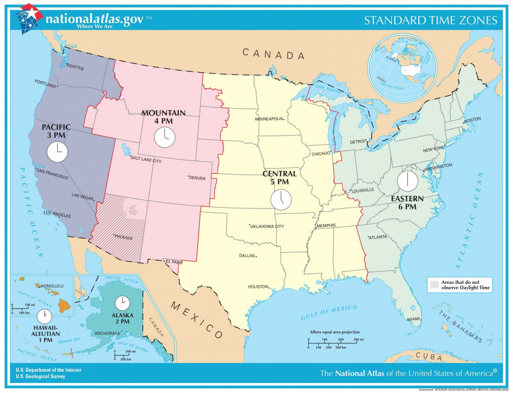 Us Map Of Time Zones And Area Codes Fresh Time Zone Maps North regarding Printable North America Time Zone Map
