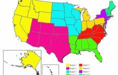 Us Regions Map Printable