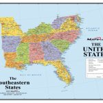Us Map Southeast Printable Southeast Us Political Map Lovely With Printable Map Of Southeast United States
