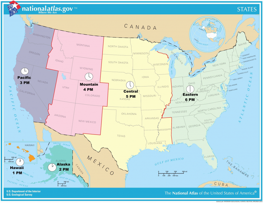 Us Map Time Zones With States Ustimezone Awesome Us Map Based Time within Printable Us Timezone Map