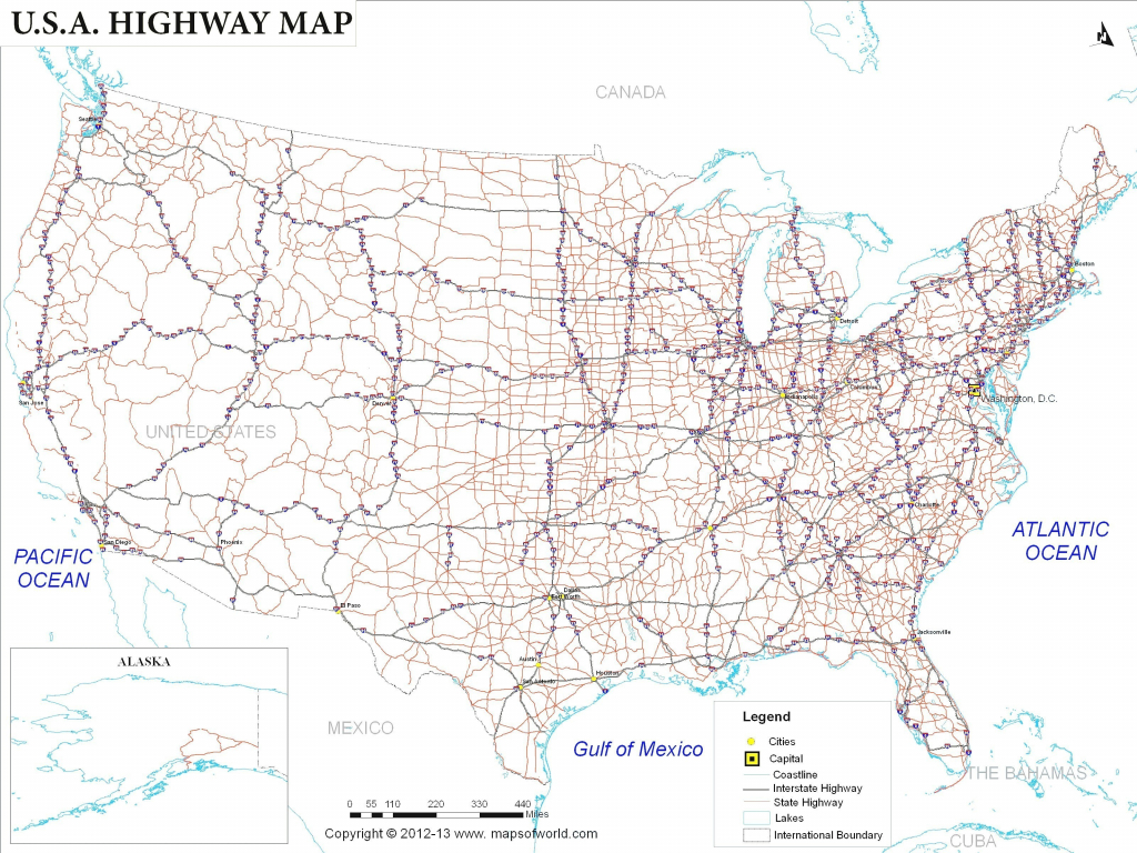 Us Map With Interstate Highway System Fresh Printable Us Map With in Printable Us Map With Interstate Highways
