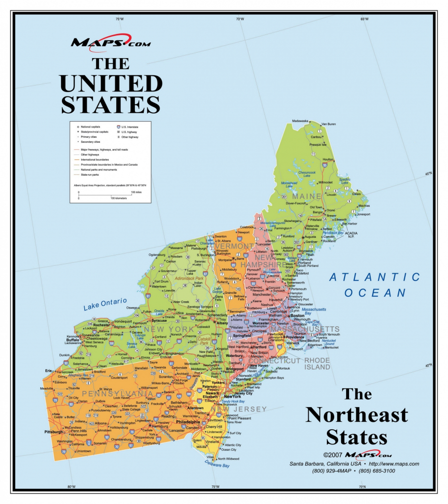 Us Mapregion Printable Usa Regional Map Inspirational Map intended for Printable Map Of New England