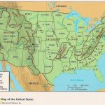 Us Physical Map With Elevation Fresh Us Elevation Map With Key With Regard To Physical Map Of The United States Printable