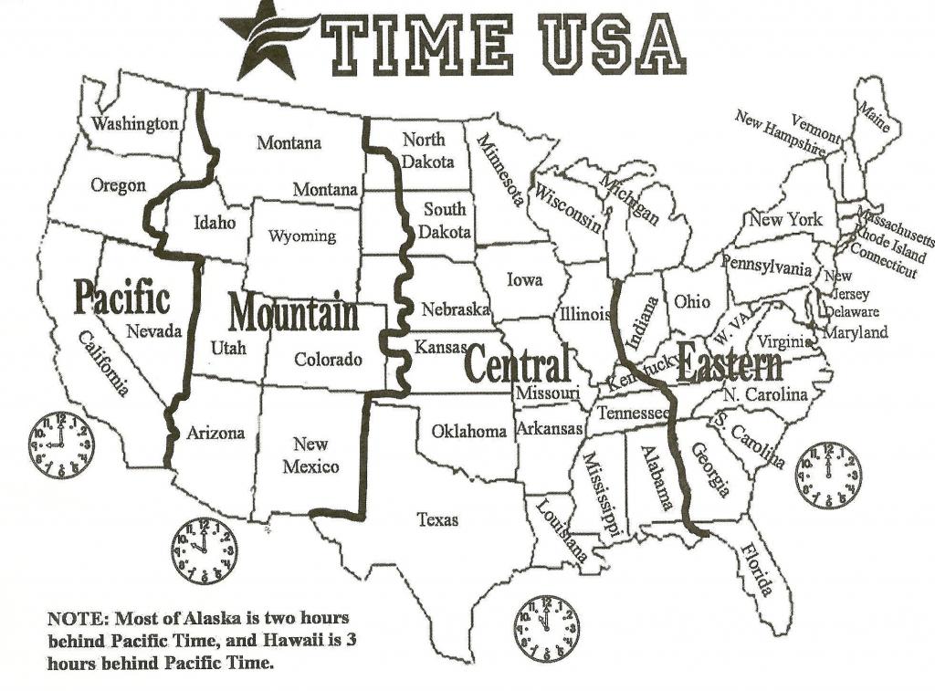 Us Time Zone Map Printable | Autobedrijfmaatje throughout Us Timezone Map Printable