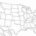 Usa Blank Map Large Printable Us Outline Worksheet United States In Large Printable Us Map