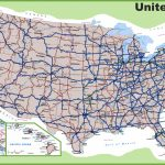 Usa Road Map Intended For Printable Road Map Of Western Us