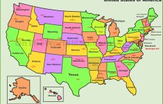 United States Map With States And Capitals Printable