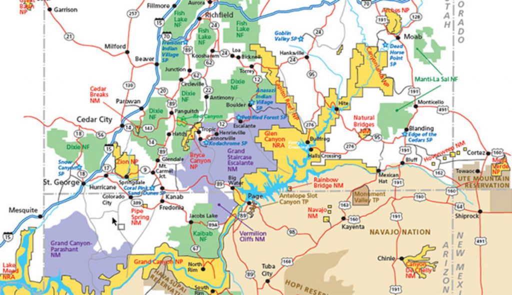 Utah Parks Area Map Pdf - My Utah Parks in Printable Map Of Utah National Parks