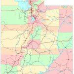 Utah Printable Map Intended For Utah State Map Printable