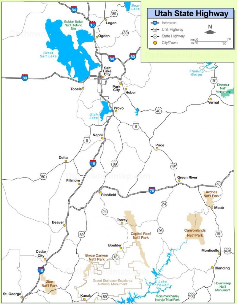 Utah State Maps | Usa | Maps Of Utah (Ut) for Printable Map Of Utah