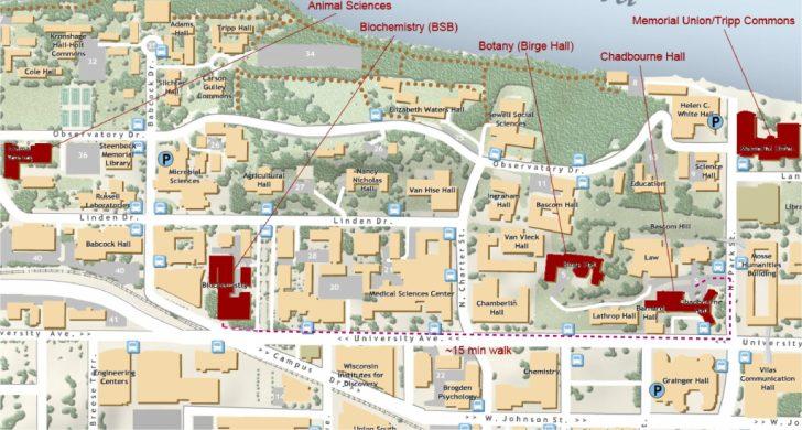 Uw Madison Campus Map Printable