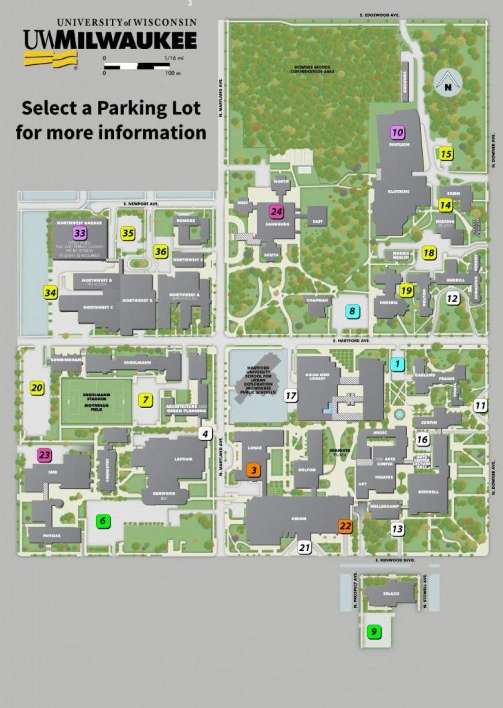 Uw Milwaukee Campus Map - University Of Wisconsin Milwaukee Campus within Uw Madison Campus Map Printable