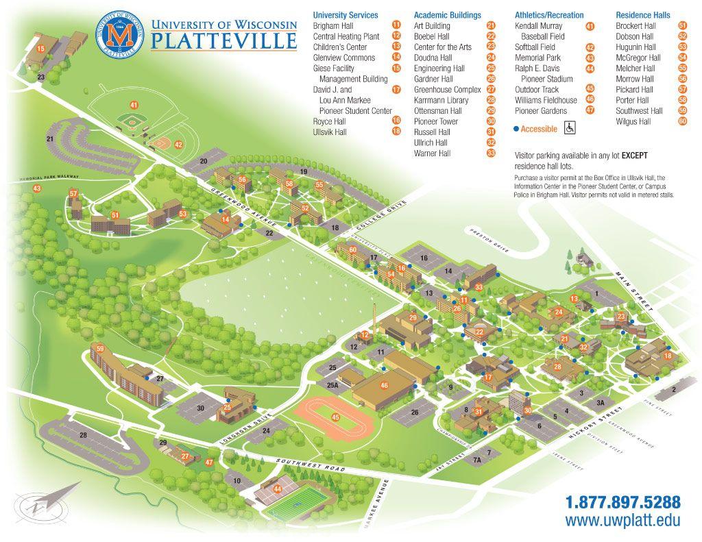 Uw-Platteville Campus Map | Campus Life | Campus Map, Sonoma State with regard to Printable Uw Madison Campus Map