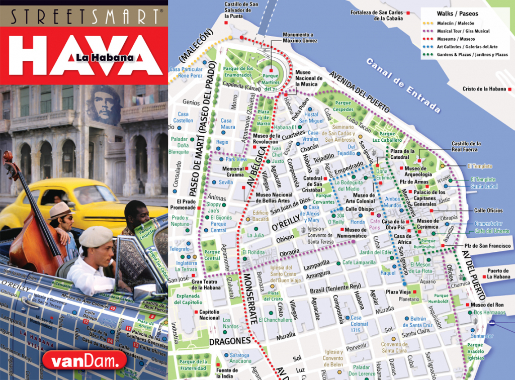 Vandam - Cuba & Havana Maps, Hot Off The Press inside Havana City Map Printable