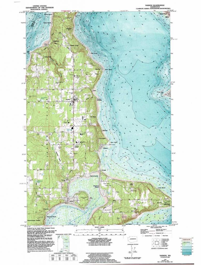 Vashon Topographic Map, Wa - Usgs Topo Quad 47122D4 in Vashon Island Map Printable