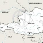 Vector Map Of Austria Political | One Stop Map With Regard To Printable Map Of Austria