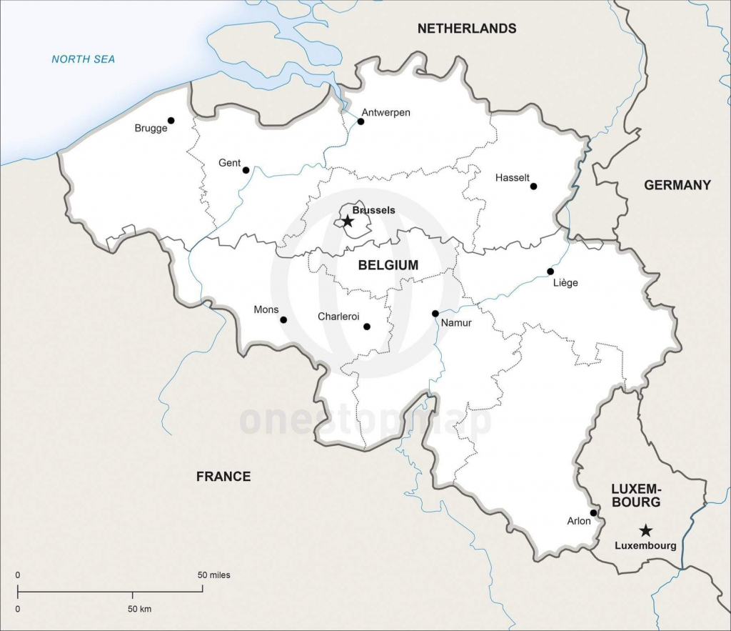 Vector Map Of Belgium Political | One Stop Map regarding Printable Map Of Belgium